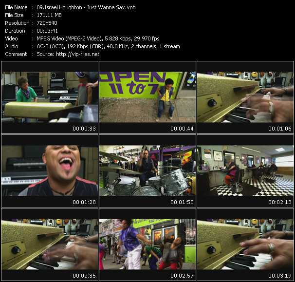 Israel Houghton video screenshot