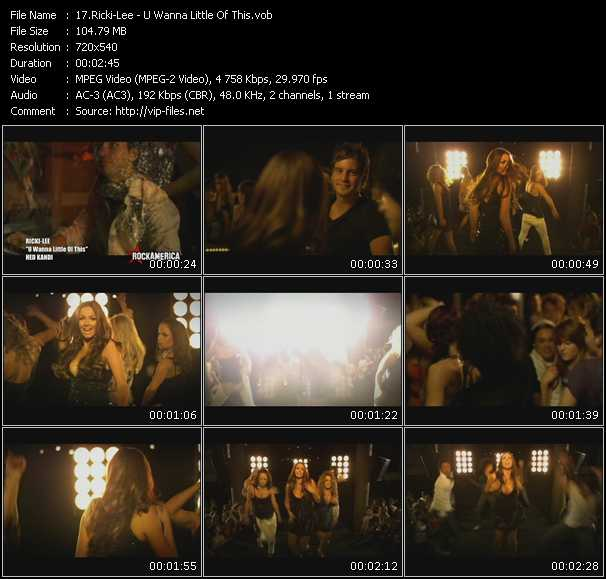 Ricki-Lee video screenshot