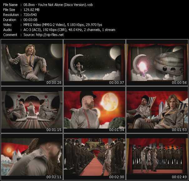 video You're Not Alone (Disco Version) screen