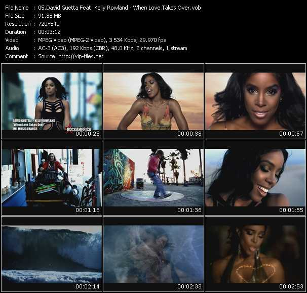David Guetta Feat. Kelly Rowland video screenshot