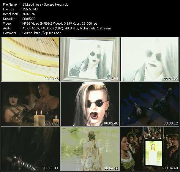 Lacrimosa video screenshot