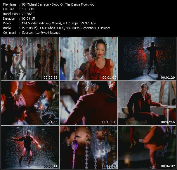 video Blood On The Dance Floor screen