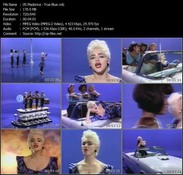 video True Blue screen