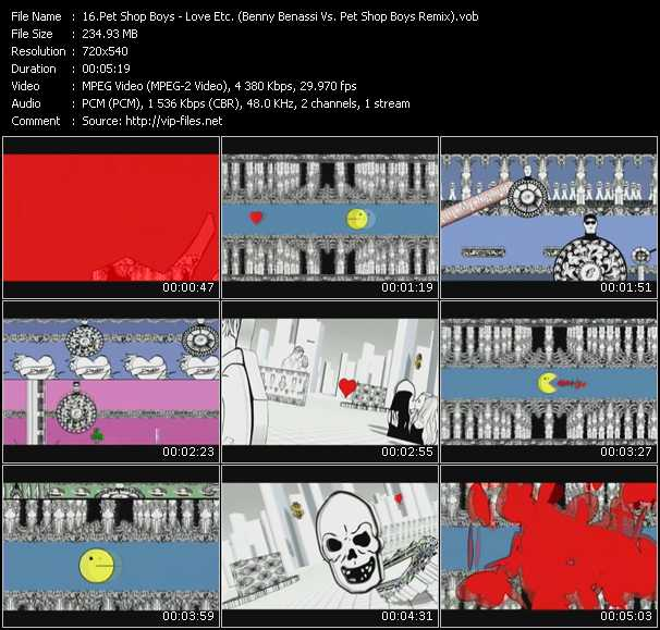 video Love Etc. (Benny Benassi Vs. Pet Shop Boys Remix) screen