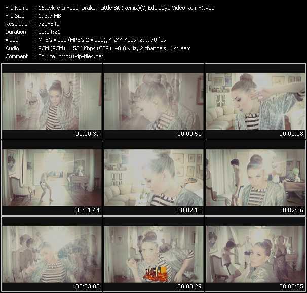 Lykke Li Feat. Drake video screenshot