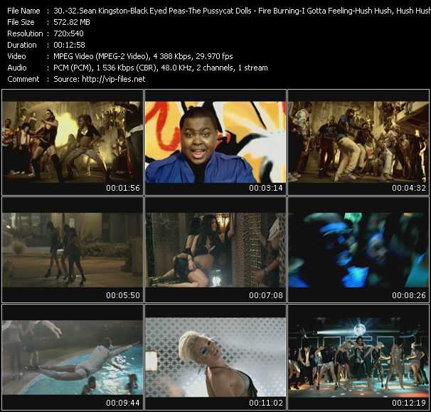 Sean Kingston - Black Eyed Peas - Pussycat Dolls video screenshot