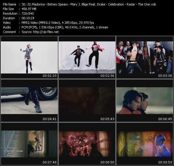 video Celebration - Radar - The One screen