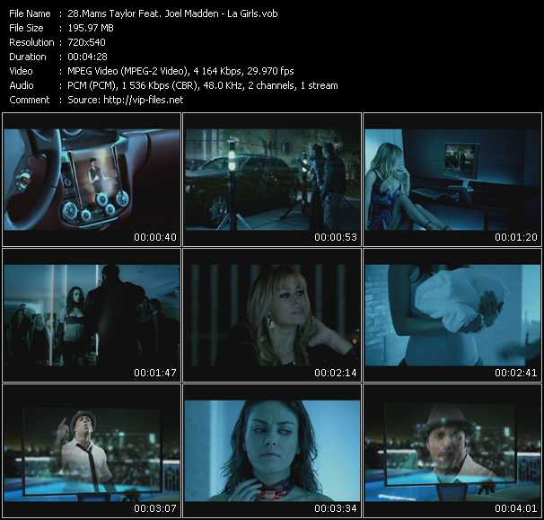 Mams Taylor Feat. Joel Madden video screenshot
