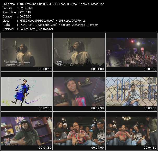 Prime And Que B.I.L.L.A.H. Feat. Krs-One video screenshot