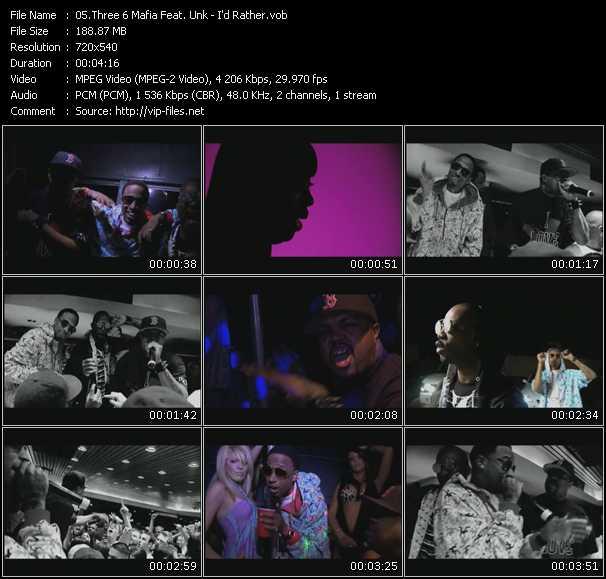 Three 6 Mafia Feat. Unk video screenshot
