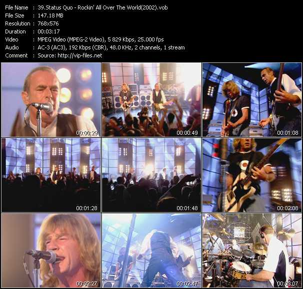 video Rockin' All Over The World (From Top Of The Pops 2002) screen