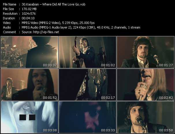 Kasabian video screenshot