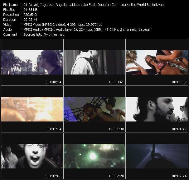 Axwell, Ingrosso, Angello, Laidback Luke Feat. Deborah Cox video screenshot