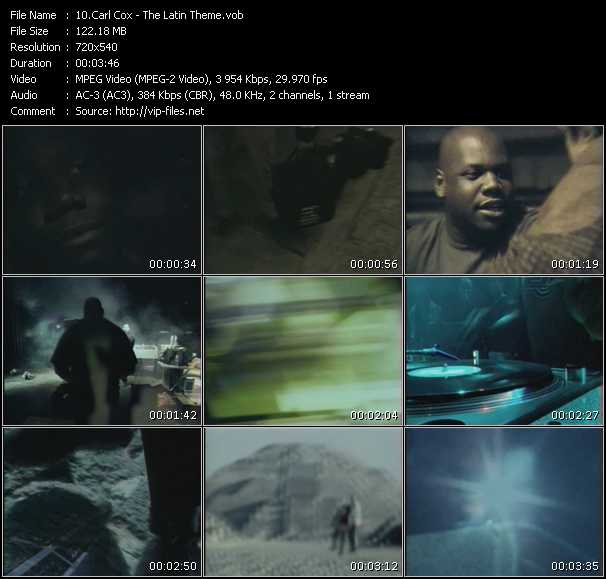 Carl Cox video screenshot