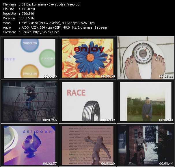 Baz Luhrmann video screenshot