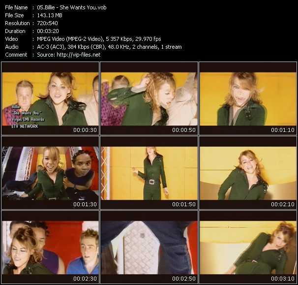Billie video screenshot