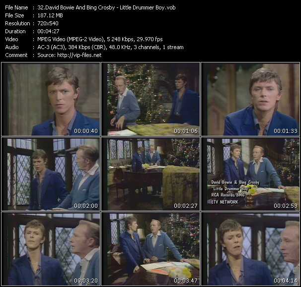 Bing Crosby And David Bowie video screenshot