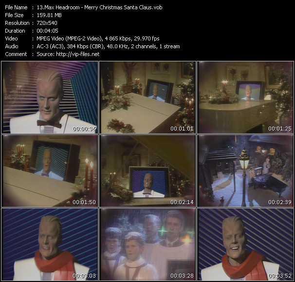 Max Headroom video screenshot