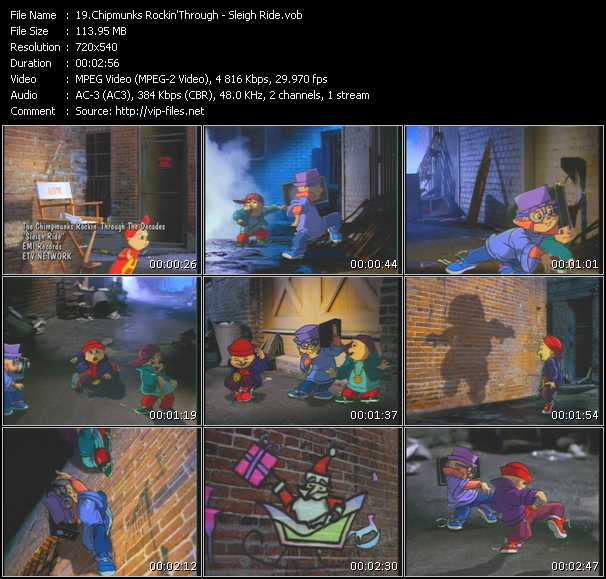 Chipmunks Rockin'Through video screenshot