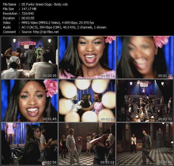 Funky Green Dogs video screenshot