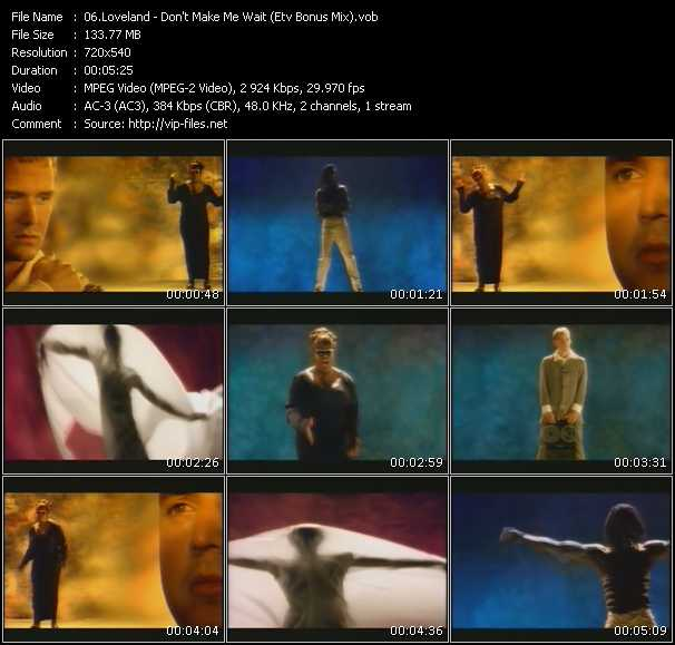 video Don't Make Me Wait (ETV Bonus Mix) screen