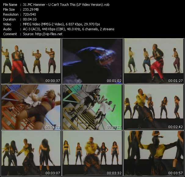 video U Can't Touch This (LP Video Version) screen