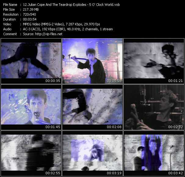 Julian Cope And The Teardrop Explodes video screenshot