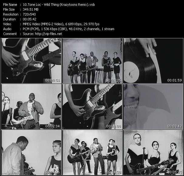 video Wild Thing (Krazytoons Remix) screen