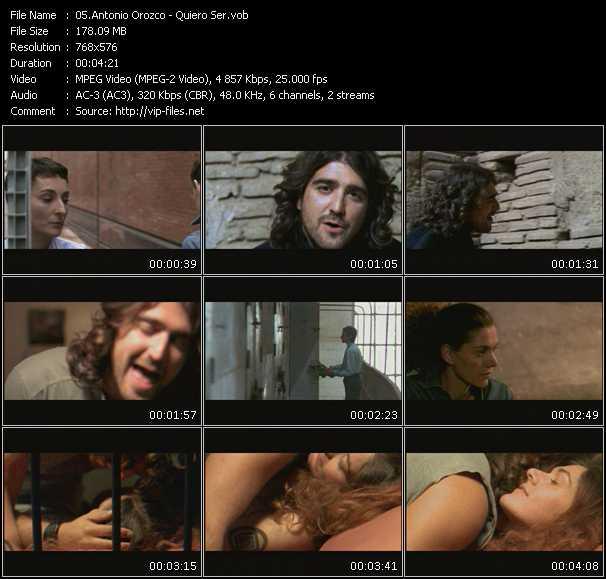 Antonio Orozco video screenshot