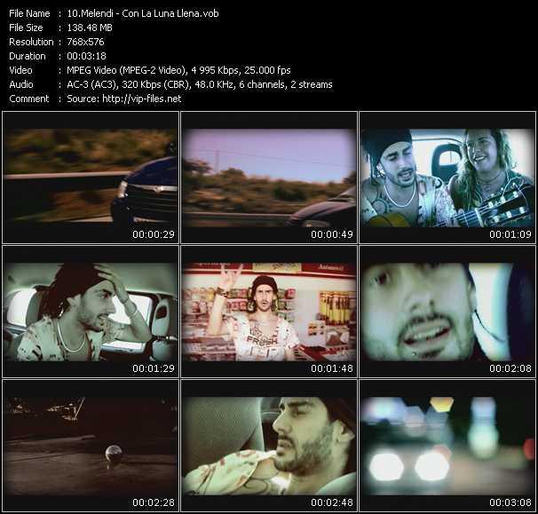 Melendi video screenshot