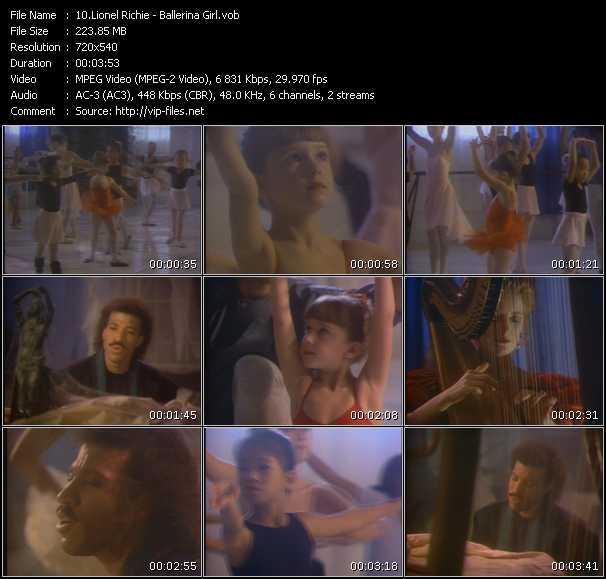 video Ballerina Girl screen