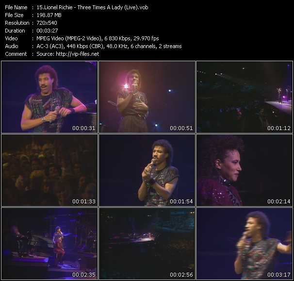 video Three Times A Lady (Live) screen