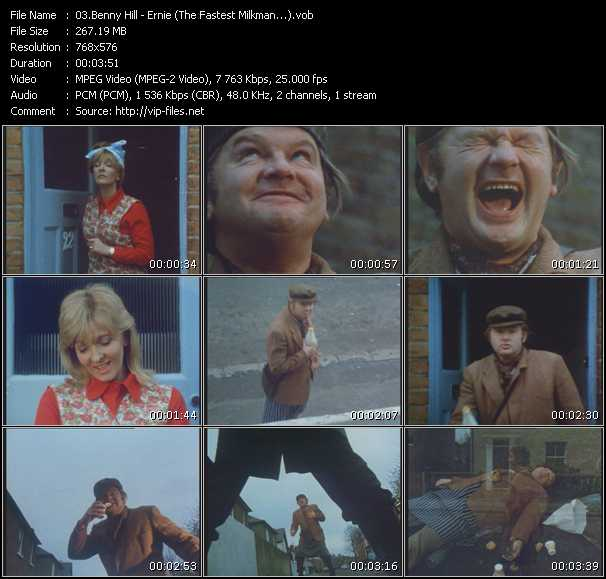 Benny Hill video screenshot