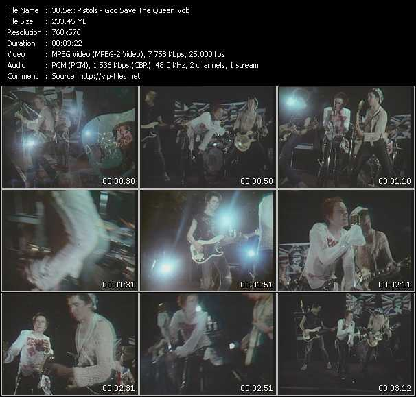 Sex Pistols video screenshot