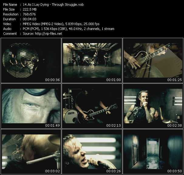 As I Lay Dying video screenshot