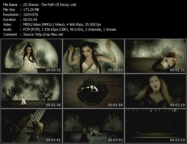 Sirenia video screenshot