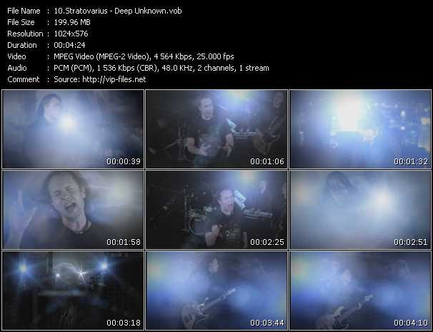Stratovarius video screenshot