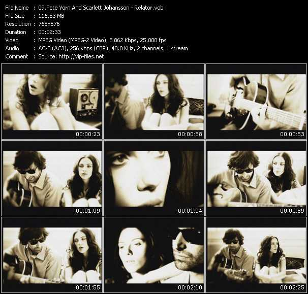 Pete Yorn And Scarlett Johansson video screenshot