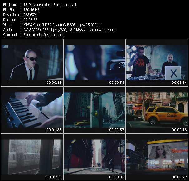 Desaparecidos video screenshot