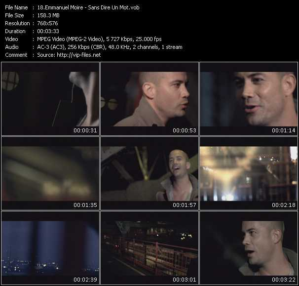 Emmanuel Moire video screenshot