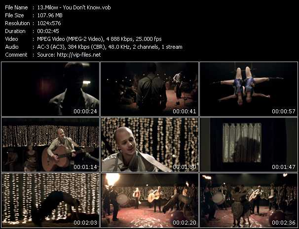 Milow video screenshot