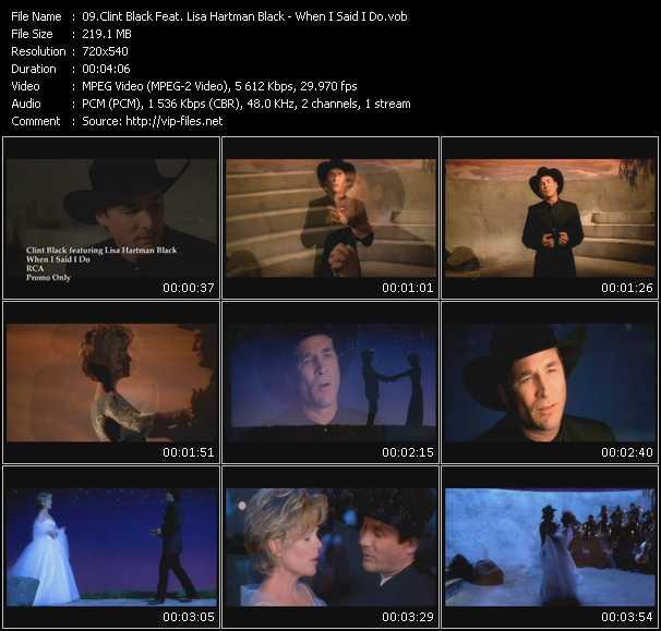 Clint Black Feat. Lisa Hartman Black video screenshot