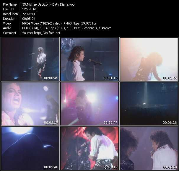 video Dirty Diana screen