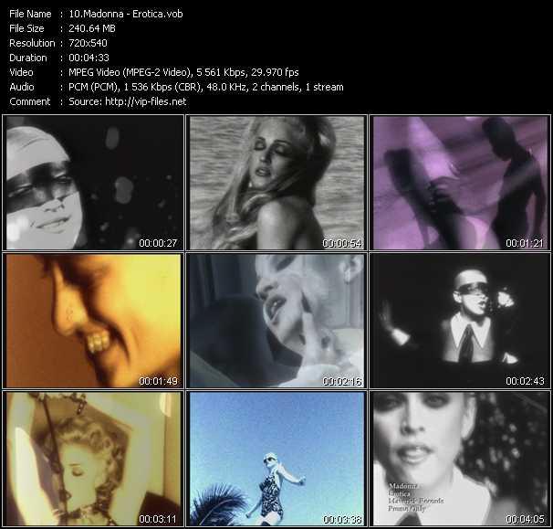 video Erotica screen