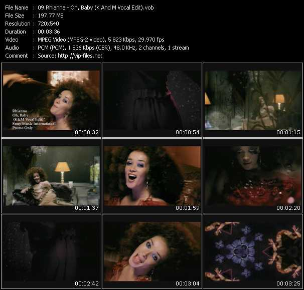 Rhianna video screenshot