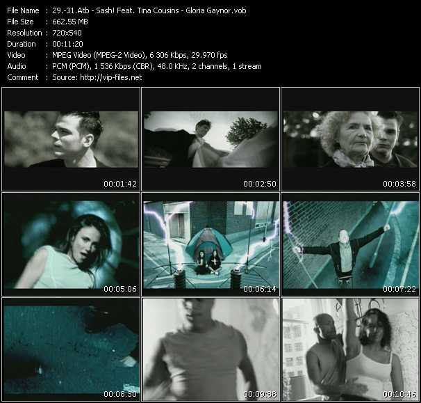 Atb - Sash! Feat. Tina Cousins - Gloria Gaynor video screenshot