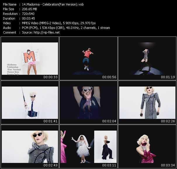 video Celebration (Fan Version) screen
