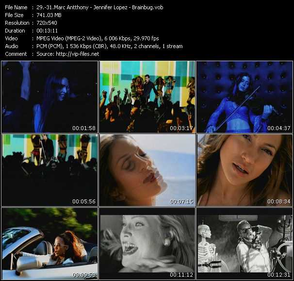 Marc Antthony - Jennifer Lopez - Brainbug video screenshot