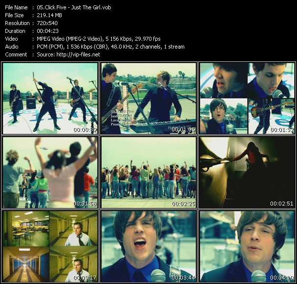 Click Five (Click 5) video screenshot