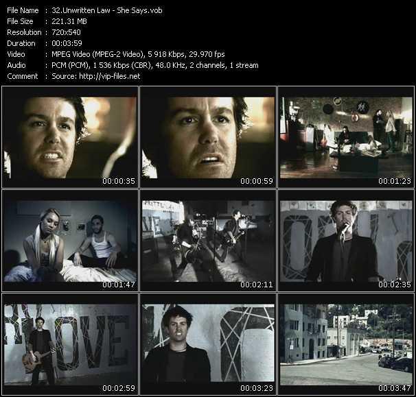 Unwritten Law video screenshot